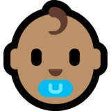 Baby: Medium Skin Tone on Microsoft Windows 10 October 2018 Update