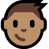 Boy: Medium Skin Tone on Microsoft Windows 10 October 2018 Update