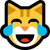 Cat Face With Tears of Joy on Microsoft Windows 10 October 2018 Update