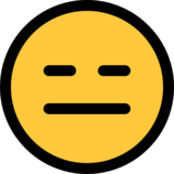Expressionless Face on Microsoft Windows 10 October 2018 Update