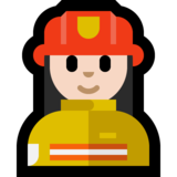 Woman Firefighter: Light Skin Tone on Microsoft Windows 10 October 2018 Update