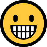 Grinning Face on Microsoft Windows 10 October 2018 Update