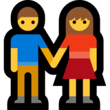 Woman and Man Holding Hands on Microsoft Windows 10 October 2018 Update