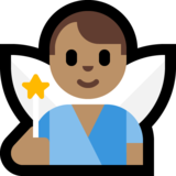 Man Fairy: Medium Skin Tone on Microsoft Windows 10 October 2018 Update