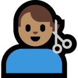 Man Getting Haircut: Medium Skin Tone on Microsoft Windows 10 October 2018 Update