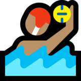 Man Playing Water Polo: Medium Skin Tone on Microsoft Windows 10 October 2018 Update