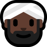 Man Wearing Turban: Dark Skin Tone on Microsoft Windows 10 October 2018 Update