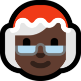 Mrs. Claus: Dark Skin Tone on Microsoft Windows 10 October 2018 Update