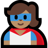 Superhero: Medium Skin Tone on Microsoft Windows 10 October 2018 Update