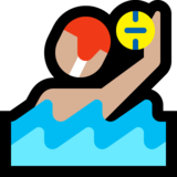Person Playing Water Polo: Medium-Light Skin Tone on Microsoft Windows 10 October 2018 Update