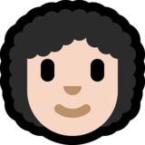 Woman: Light Skin Tone, Curly Hair on Microsoft Windows 10 October 2018 Update