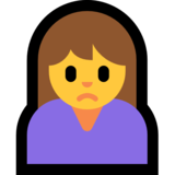 Woman Frowning on Microsoft Windows 10 October 2018 Update
