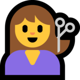 Woman Getting Haircut on Microsoft Windows 10 October 2018 Update