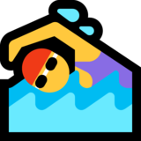 Woman Swimming on Microsoft Windows 10 October 2018 Update