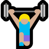 Woman Lifting Weights: Medium-Light Skin Tone on Microsoft Windows 10 October 2018 Update