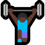 Woman Lifting Weights: Dark Skin Tone on Microsoft Windows 10 October 2018 Update