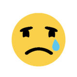 Crying Face on Microsoft Windows 8.1