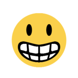 Grinning Face on Microsoft Windows 8.1