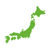 Map of Japan on Microsoft Windows 8.1