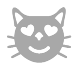 Smiling Cat with Heart-Eyes on Microsoft Windows 8.1