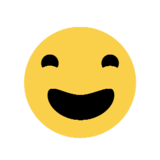 Grinning Face With Big Eyes on Microsoft Windows 8.1