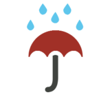 Umbrella with Rain Drops on Microsoft Windows 8.1