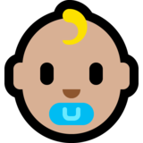 Baby: Medium-Light Skin Tone on Microsoft Windows 10 May 2019 Update