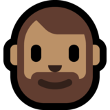 Man: Medium Skin Tone, Beard on Microsoft Windows 10 May 2019 Update