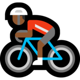 Person Biking: Medium-Dark Skin Tone on Microsoft Windows 10 May 2019 Update