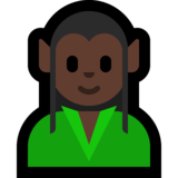 Elf: Dark Skin Tone on Microsoft Windows 10 May 2019 Update
