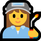 Woman Factory Worker on Microsoft Windows 10 May 2019 Update