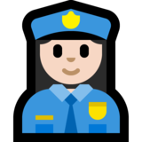 Woman Police Officer: Light Skin Tone on Microsoft Windows 10 May 2019 Update