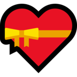 Heart with Ribbon on Microsoft Windows 10 May 2019 Update