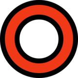 Hollow Red Circle on Microsoft Windows 10 May 2019 Update