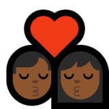 Kiss - Man: Medium-Dark Skin Tone, Woman: Medium-Dark Skin Tone on Microsoft Windows 10 May 2019 Update