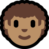 Man: Medium Skin Tone, Curly Hair on Microsoft Windows 10 May 2019 Update