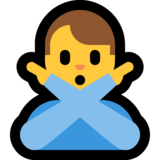Man Gesturing No on Microsoft Windows 10 May 2019 Update