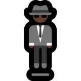 Person in Suit Levitating: Dark Skin Tone on Microsoft Windows 10 May 2019 Update