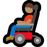 Man in Motorized Wheelchair: Medium Skin Tone on Microsoft Windows 10 May 2019 Update