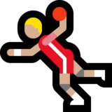 Man Playing Handball: Medium-Light Skin Tone on Microsoft Windows 10 May 2019 Update