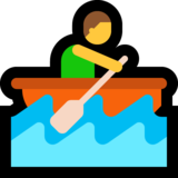 Man Rowing Boat on Microsoft Windows 10 May 2019 Update