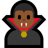 Man Vampire: Medium-Dark Skin Tone on Microsoft Windows 10 May 2019 Update