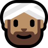Man Wearing Turban: Medium Skin Tone on Microsoft Windows 10 May 2019 Update