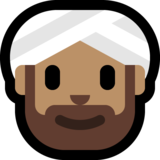 Person Wearing Turban: Medium Skin Tone on Microsoft Windows 10 May 2019 Update