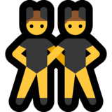 Men with Bunny Ears on Microsoft Windows 10 May 2019 Update