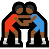 Men Wrestling, Type-5 on Microsoft Windows 10 May 2019 Update
