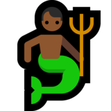 Merman: Medium-Dark Skin Tone on Microsoft Windows 10 May 2019 Update