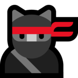 Ninja Cat on Microsoft Windows 10 May 2019 Update