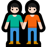 People Holding Hands: Light Skin Tone on Microsoft Windows 10 May 2019 Update