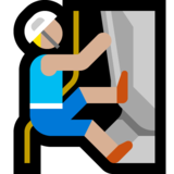 Person Climbing: Medium-Light Skin Tone on Microsoft Windows 10 May 2019 Update